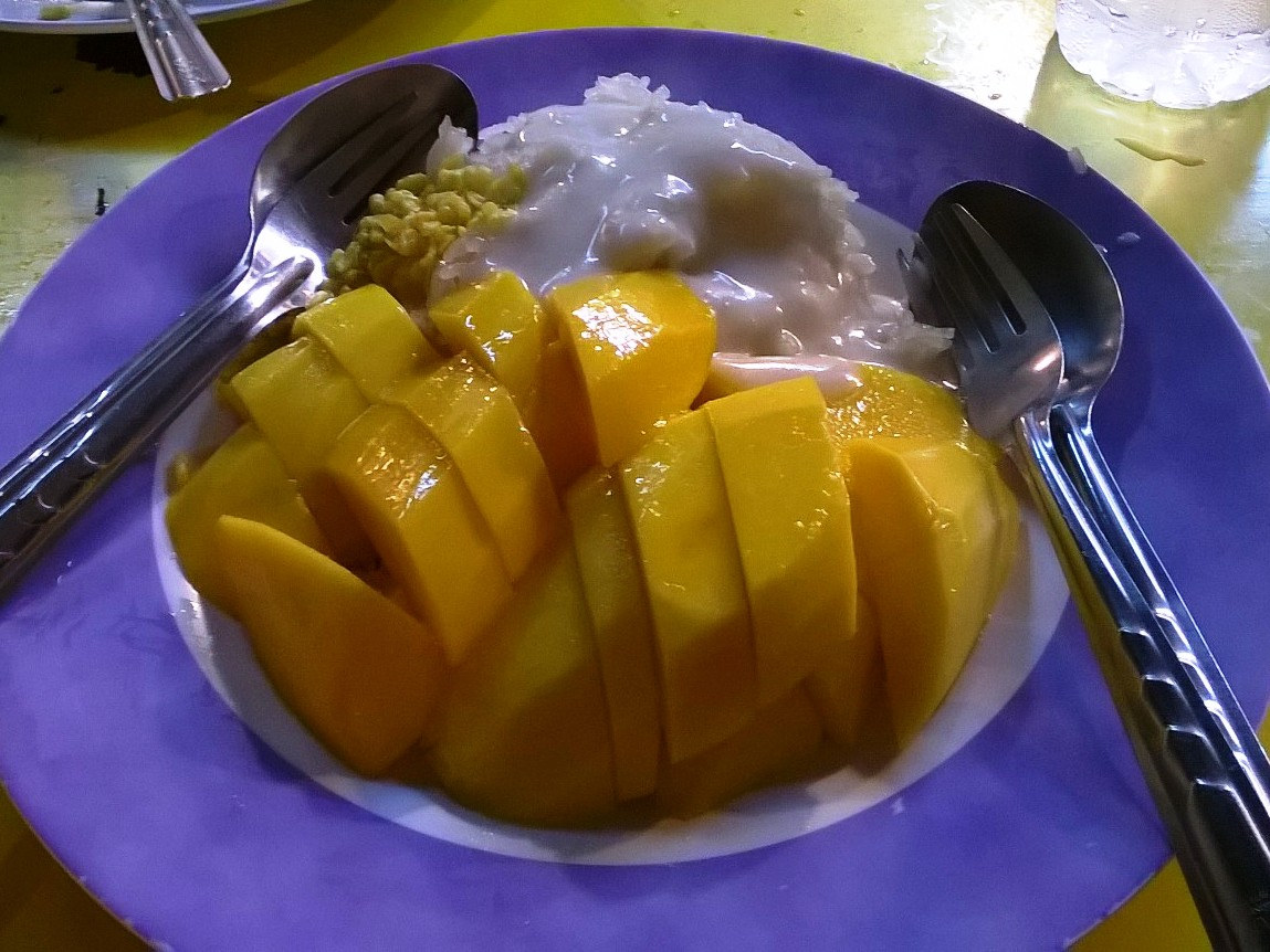 Bangkok street food - mango sticky rice
