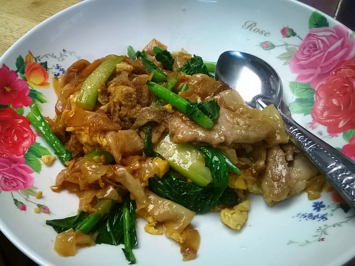 Bangkok street food - pad see ew