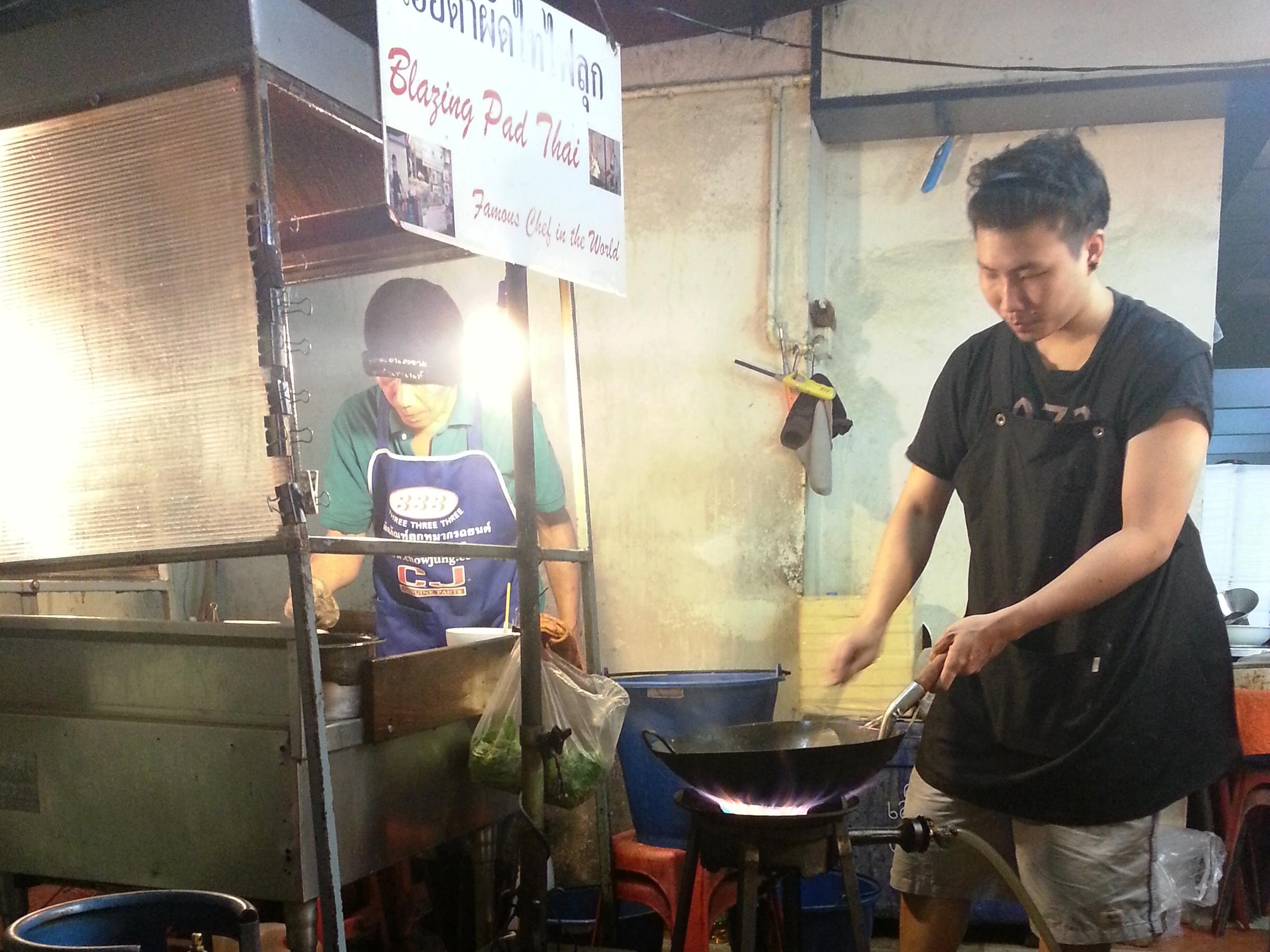 Bangkok street food - pad thai stand