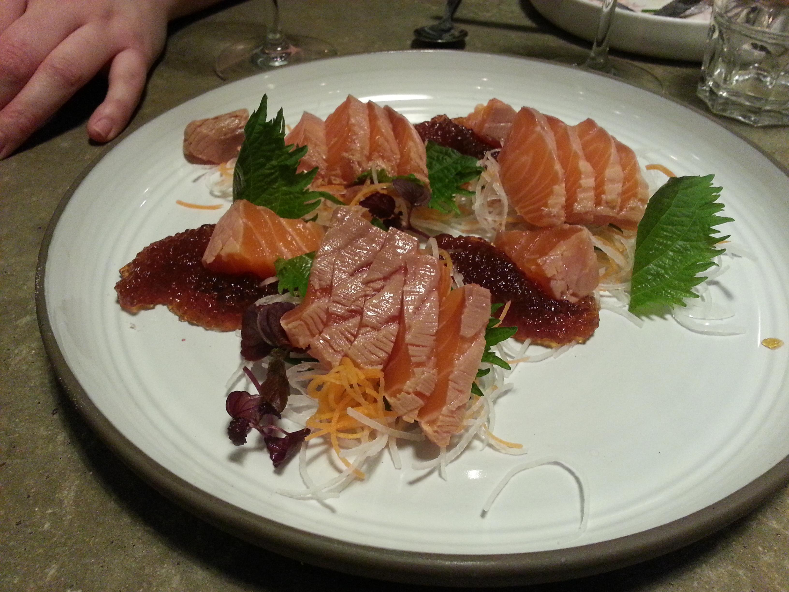 Dertien and Yama - Salmon tataki