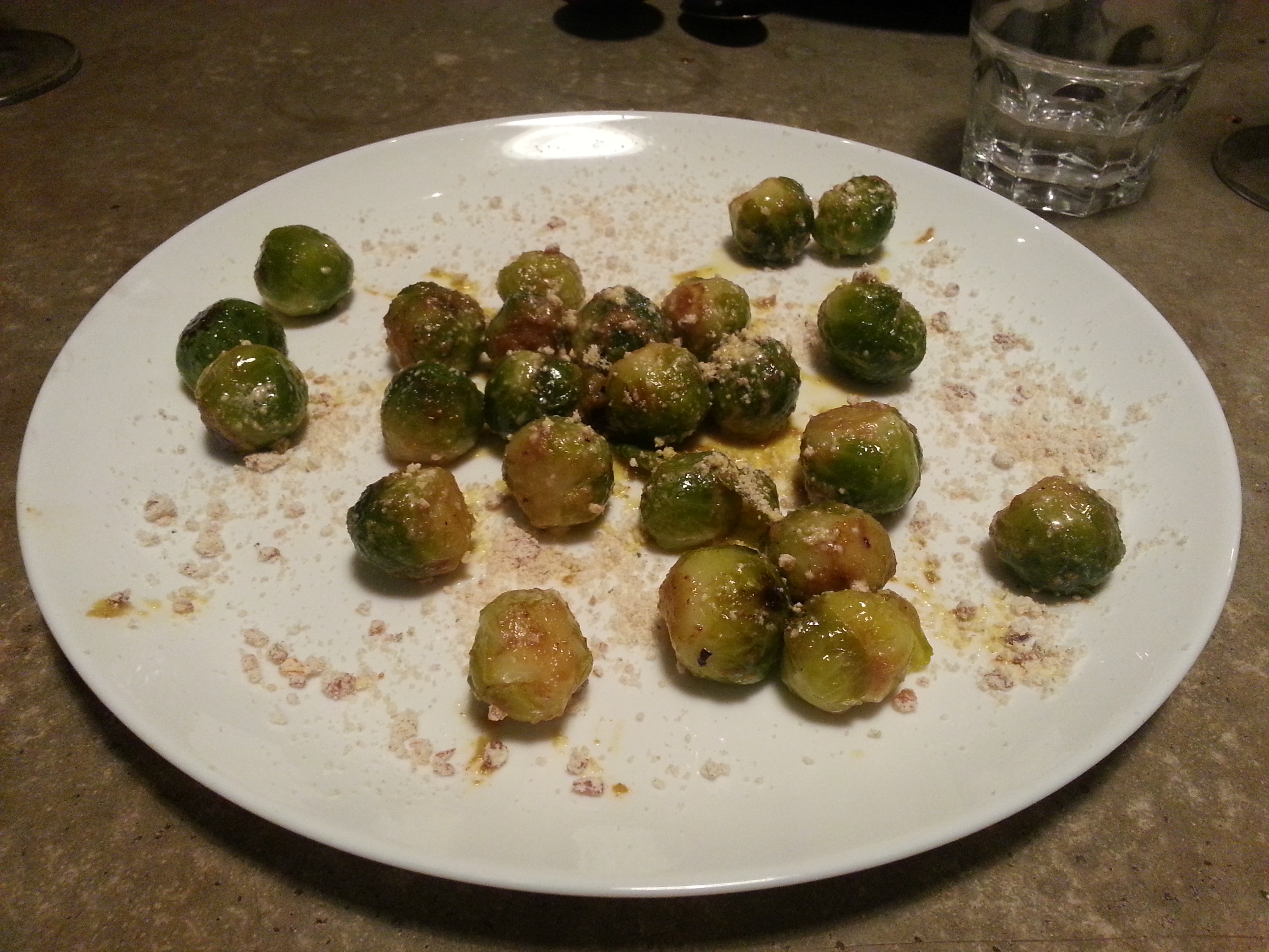 Dertien and Yama - Brussels sprouts, kimchi butter