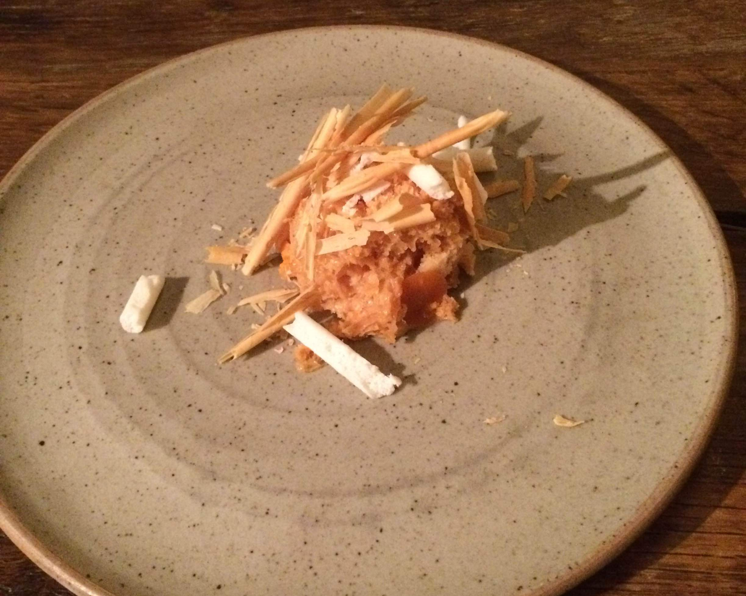 In de Wulf - fermented carrot and white chocolate