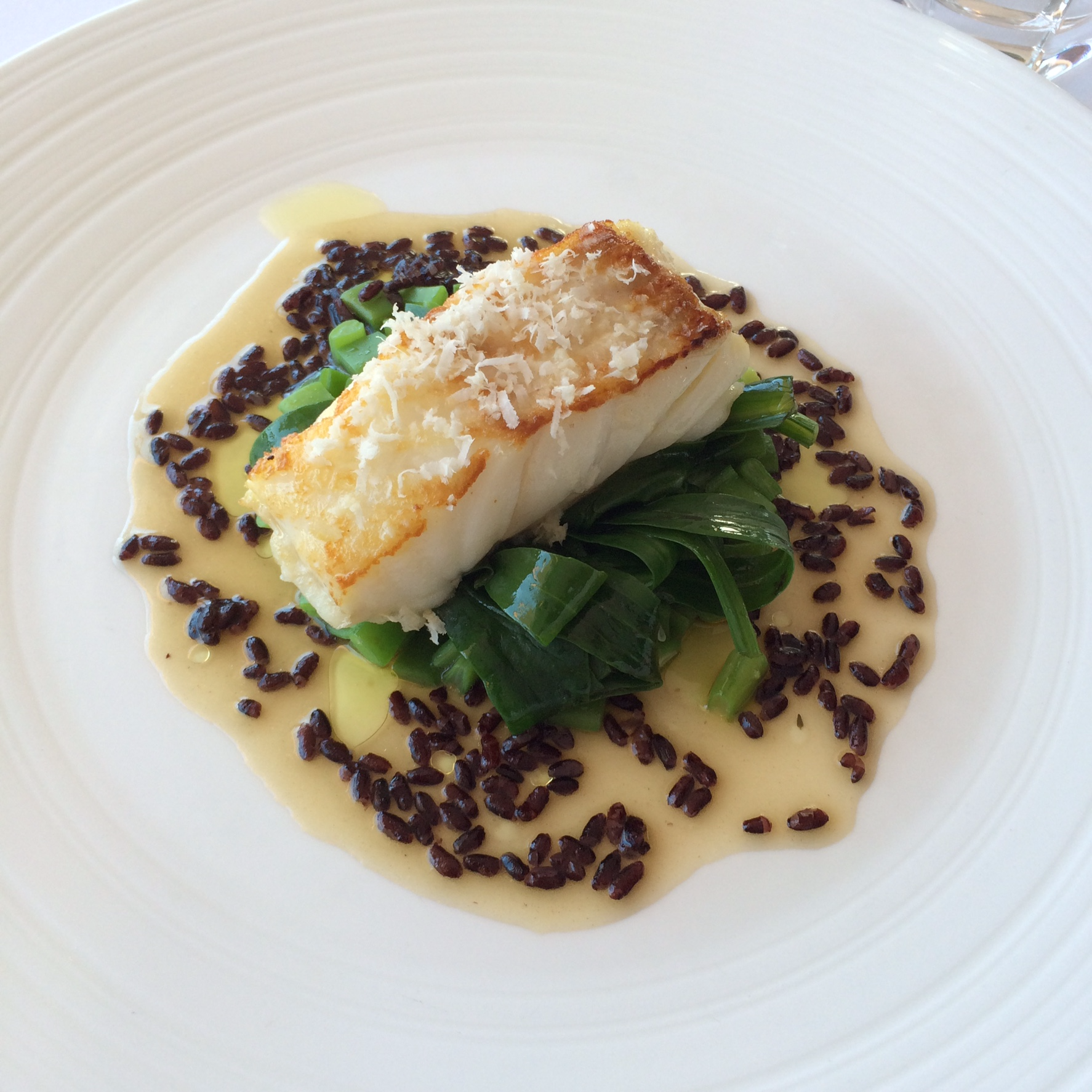 Seinpost - cod, black venus rice, sea lavender