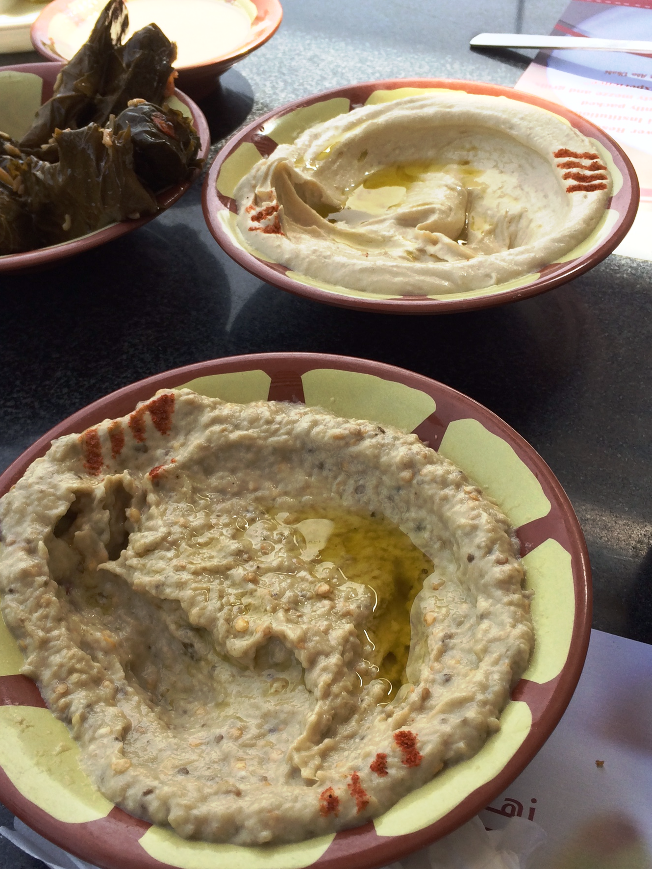 Lebanese flower - hummus and mutabal