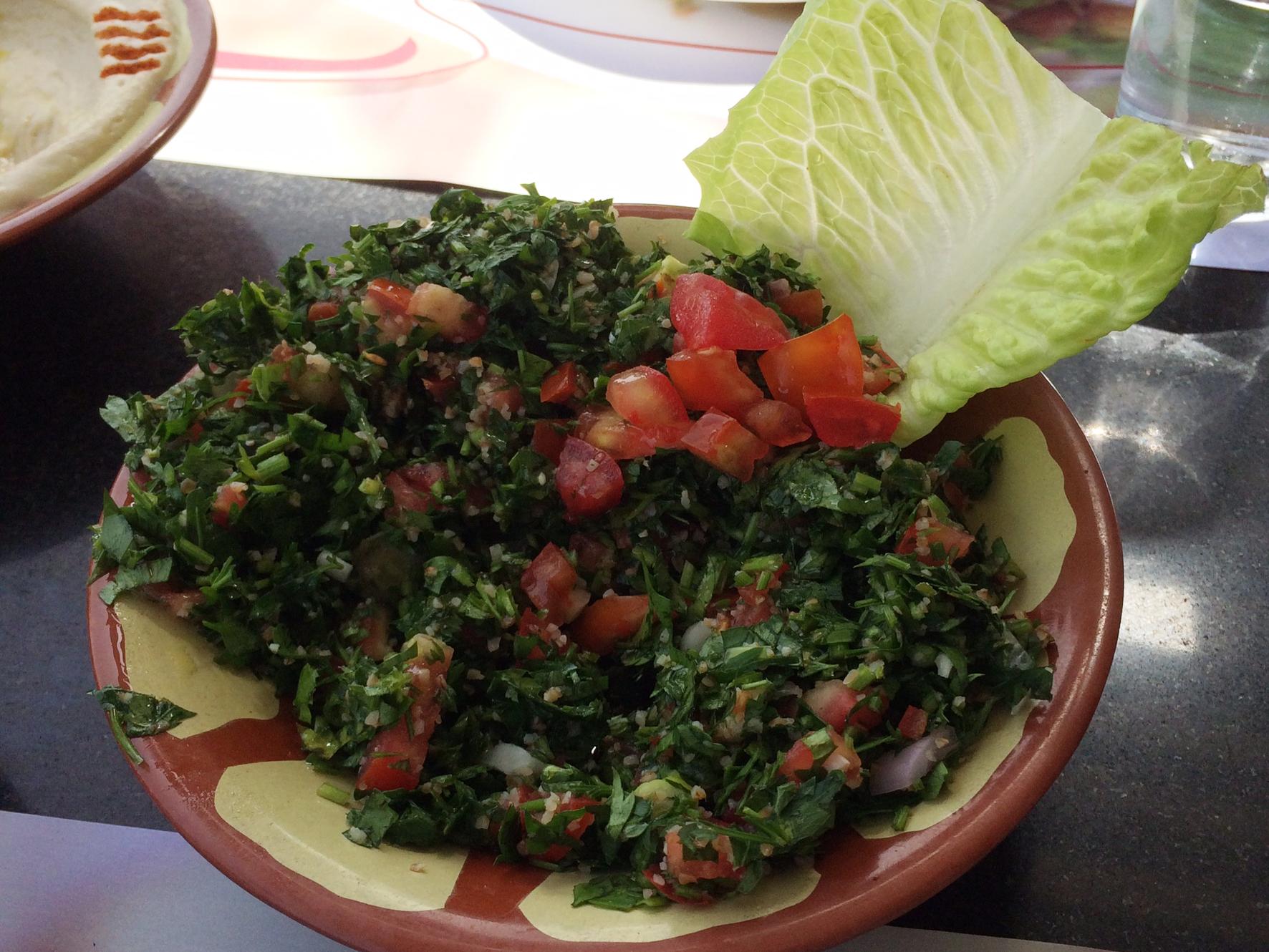 Lebanese flower - tabouleh