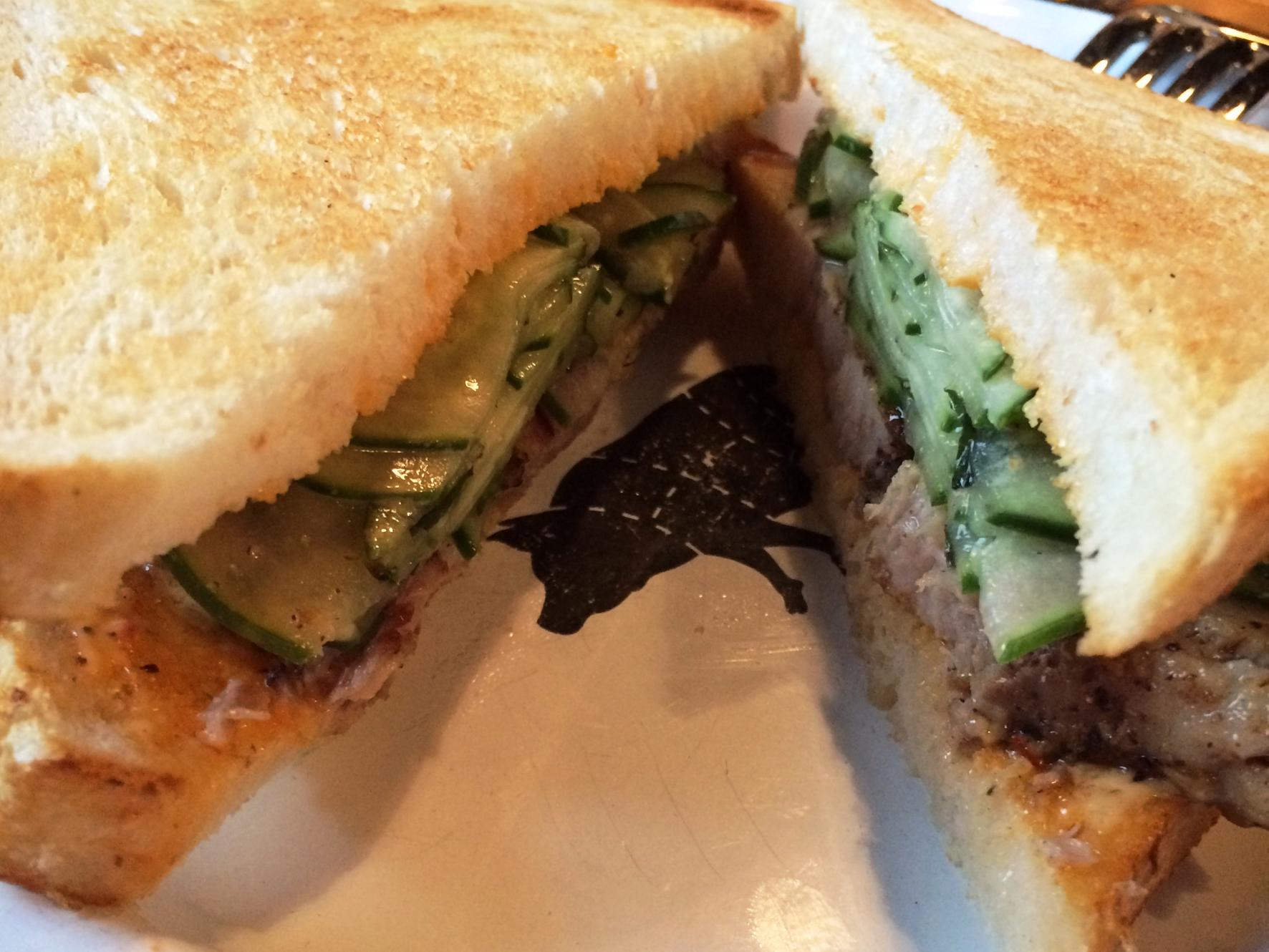 New Orleans Cochon Butcher - pork belly sandwich