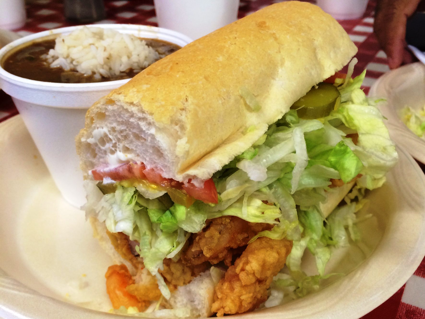 New Orleans Johnny's Po-Boys - shrimp po-boy and gumbo