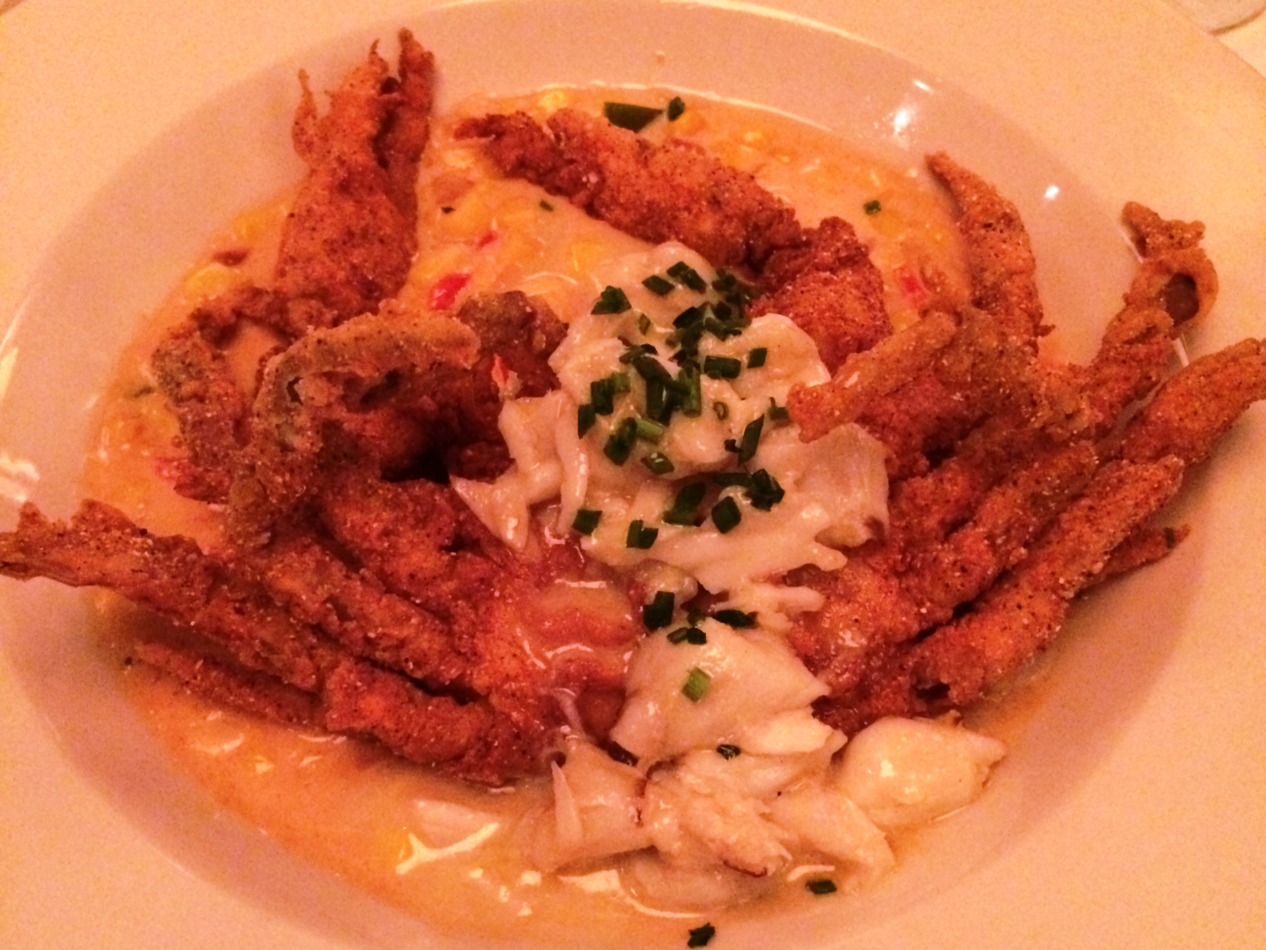 New Orleans Mr B's Bistro - soft shell crab